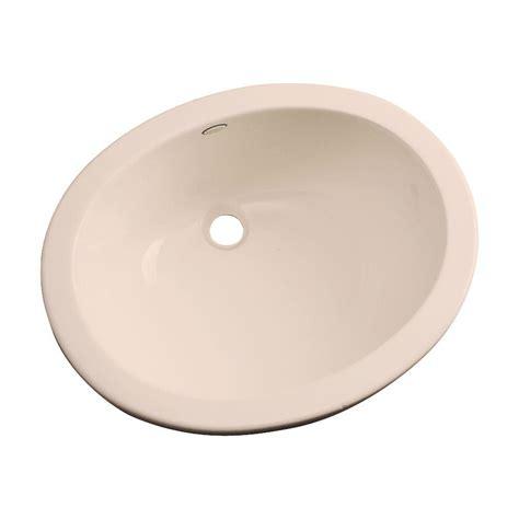 bisque bathroom sink thermocast montera undermount bathroom sink in peach