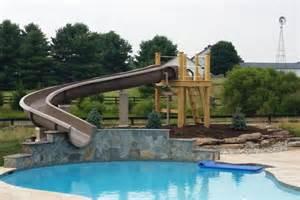 Backyard Pool Water Slides Photo Gallery