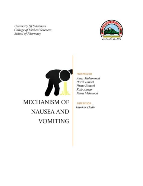 not and vomiting mechanism of nausea and vomiting