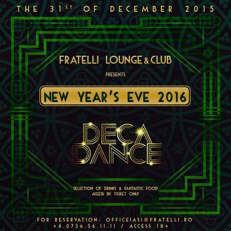 new year events 2016 new year s 2016 in fratelli lounge club fratelli