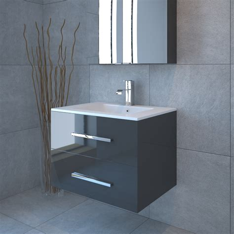 glass vanity units bathroom sonix 800 2 draw wall hung bathroom vanity unit grey buy