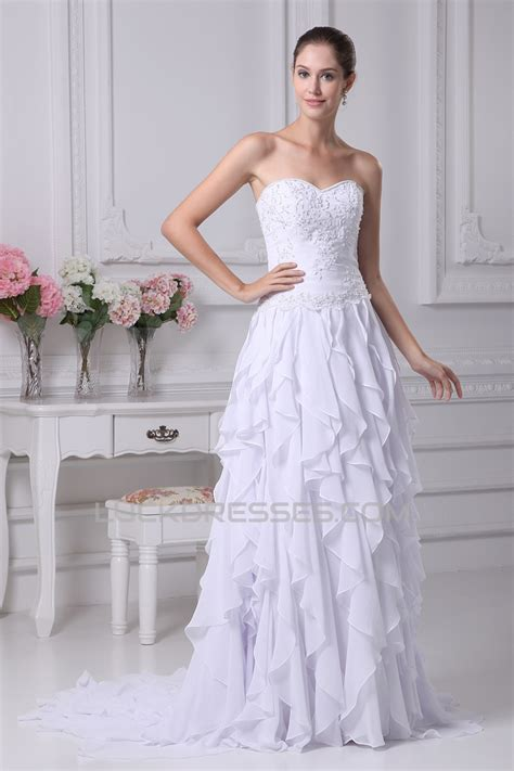Sleeveless A Line Chiffon Dress sleeveless a line sweetheart chiffon silk like satin