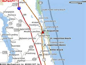 map of florida st augustine deboomfotografie