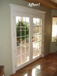 after patio door painted door trim installation the