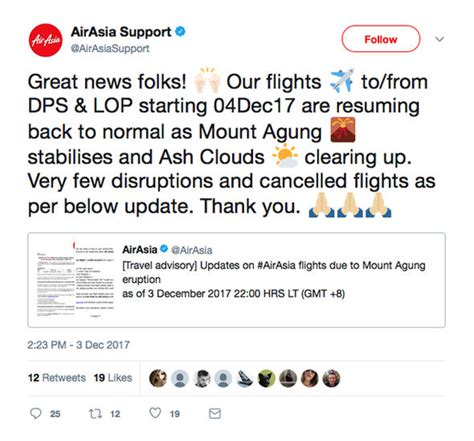 airasia volcano update bali volcano latest travel update flights back to