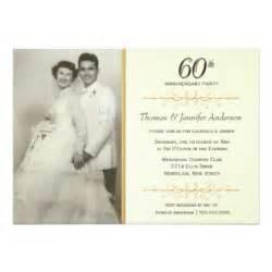 60th wedding anniversary invitations announcements zazzle au