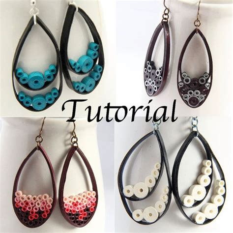 quilling earrings tutorial pdf tutorial for paper quilled jewelry pdf paisley and