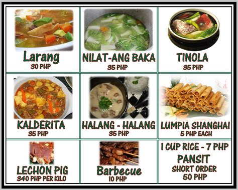 best food for the price menu prices and food merlenes cebu eatery restaurant the best place to eat in cebu