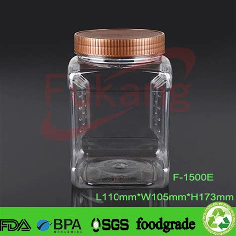 plastic food storage containers with lids wholesale 1300ml clear airtight plastic jars empty flour powder