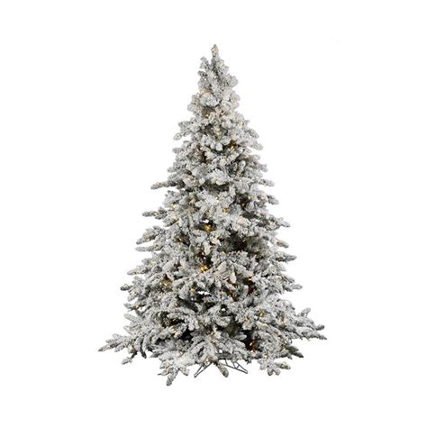 artifical trees with highest tip count shop vickerman 7 5 ft 1650 count pre lit flocked artificial tree with constant 700