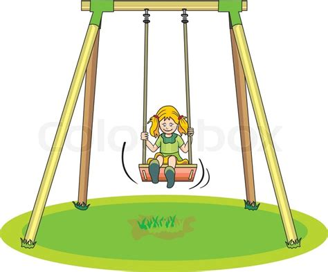 swing illustration on a swing illustration stock vector