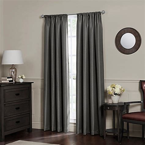 total blackout curtains buy emery 95 inch rod pocket insulated total blackout