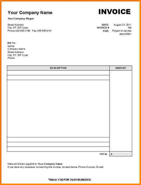 7 printable blank invoice template pdf short paid invoice
