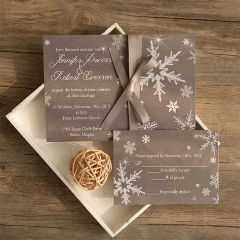 Winter Wedding Invitations by Grey Winter Wedding Invitations Ewi411 As Low As