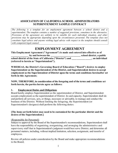 Acsa Supt Sle Contract 1 29 13 Tentative Agreement Template
