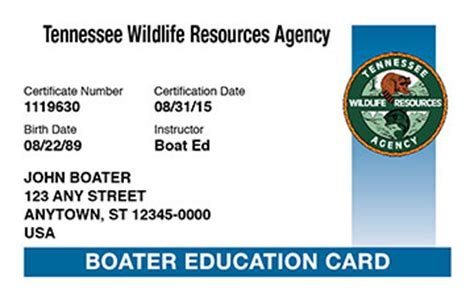 boat driving permit tennessee boating license boat safety course boat ed 174