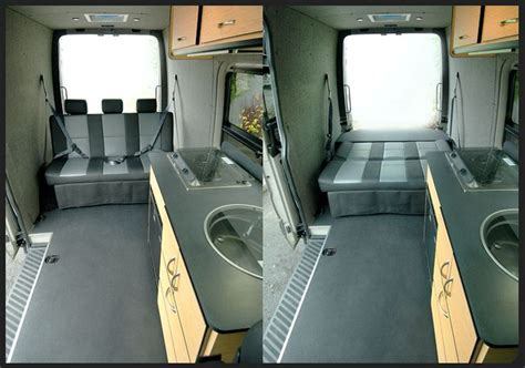 conversion van sofa bed maybe a kids back seat can turn into a bed rig ideas