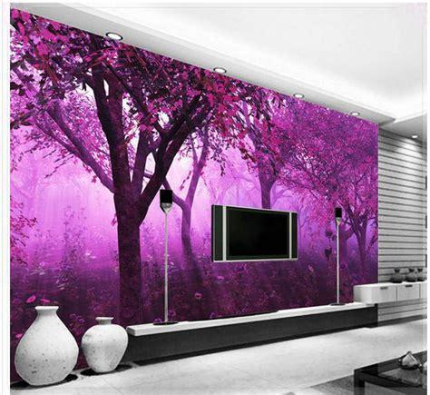 purple wall mural new large wallpaper custom wallpaper purple forest