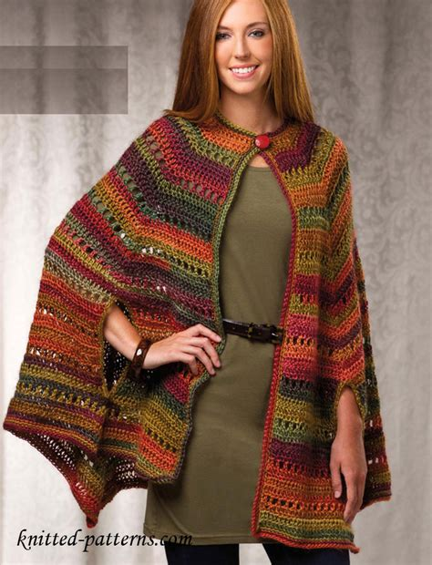 free knitting patterns for ponchos or capes crochet cape pattern free
