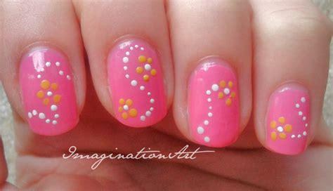 nail fiori facili imaginationnailart nail semplici pois
