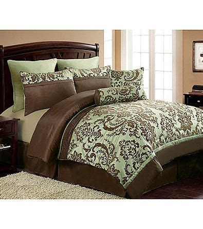 herbergers bedding victoria classics daniela 8 pc flocked comforter set