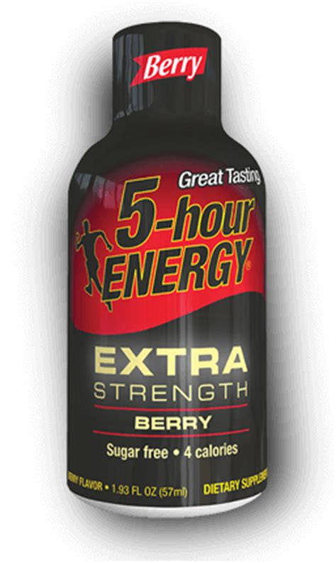 energy drinks 5 hr berry strength 5 hour energy 174