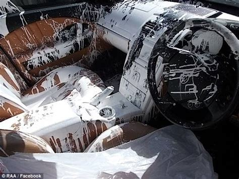 Maserati written off after tin of paint covers interior