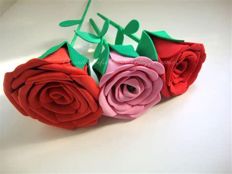 imagenes de rosas en foami rosas con goma eva manualidades en goma eva