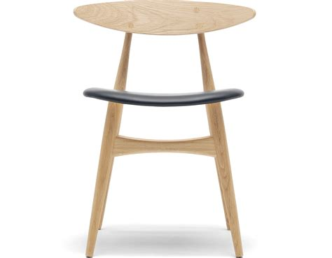 ch33 dining chair with upholstered seat hivemodern
