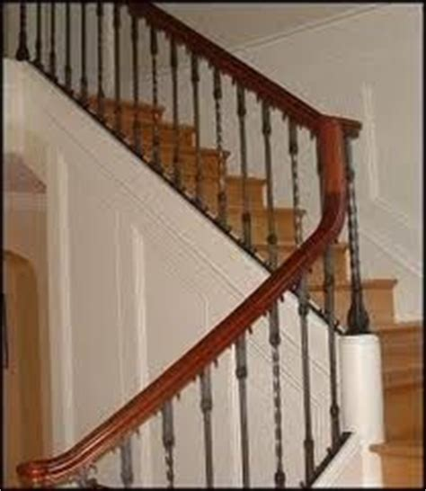 Banister Bars Accent Your Stairs Using Metal Stair Railing Newels And