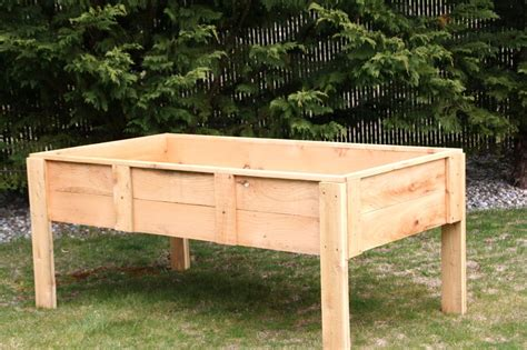 Raised Bed Planter Plans by How To Build A Raised Garden Bed With Legs Raised Garden