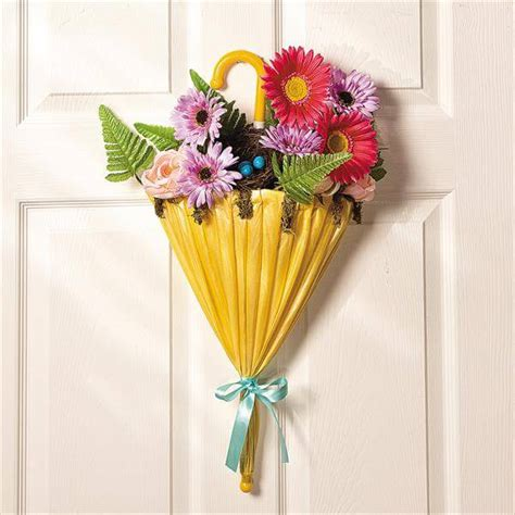 diy door ornaments diy umbrella and flowers door wreaths for diy and
