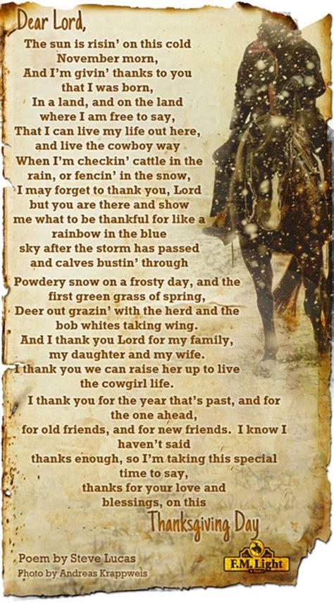 echolyn cowboy poems free a cowboy s thanksgiving prayer 2013 f m light sons
