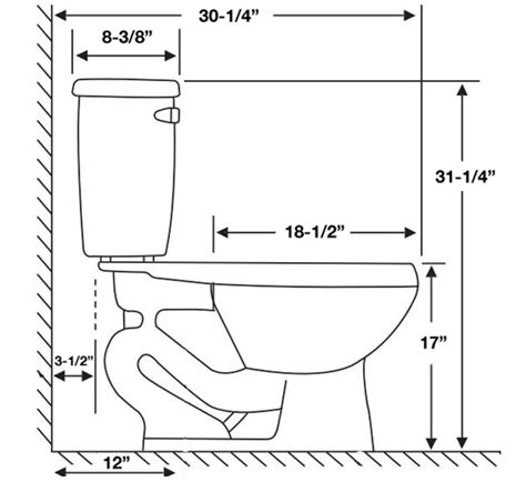What Is The Height Of A Comfort Height Toilet by Proflo Pfct103hewh White Two High Efficiency Toilet