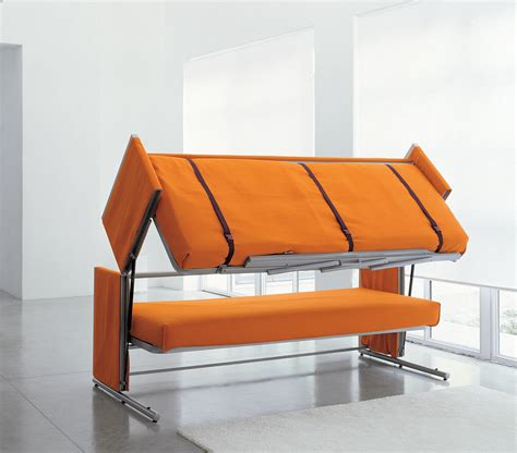 couches that convert to beds doc a sofa bed that converts in to a bunk bed in two secounds