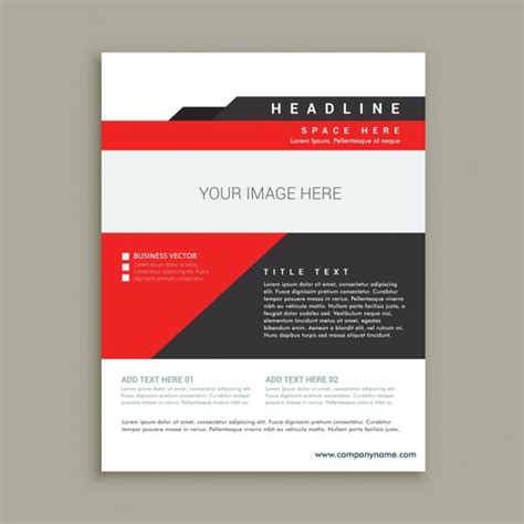 business flyer design vector free download business flyer template in abstract design vector free