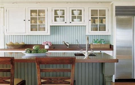 cottage style kitchens country with white beadboard