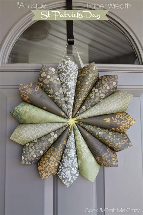 Make Paper Wreath - cook and craft me antique st s day paper