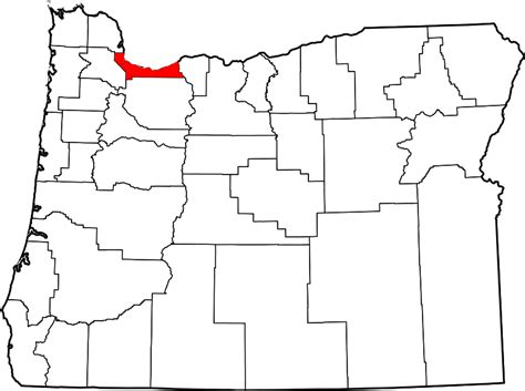 Multnomah County Search File Map Of Oregon Highlighting Multnomah County Svg Wikimedia Commons