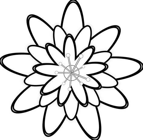 gambar bunga sakura kartun hitam putih
