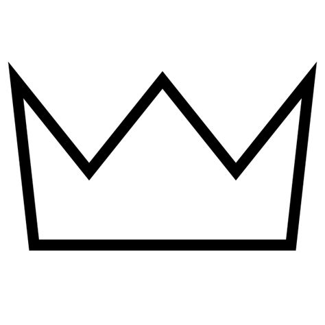 crown template black and white crown outline white clip art at clker com vector clip
