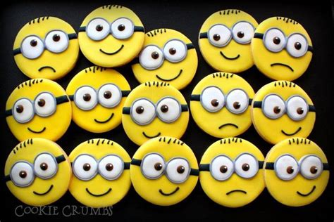 minion cookies minions cookie connection decorated cookies