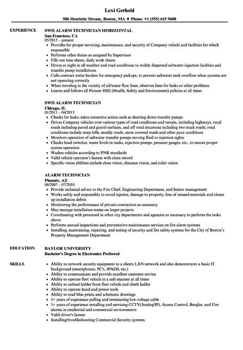 resume format for cctv technician alarm technician resume 28 images comfortable