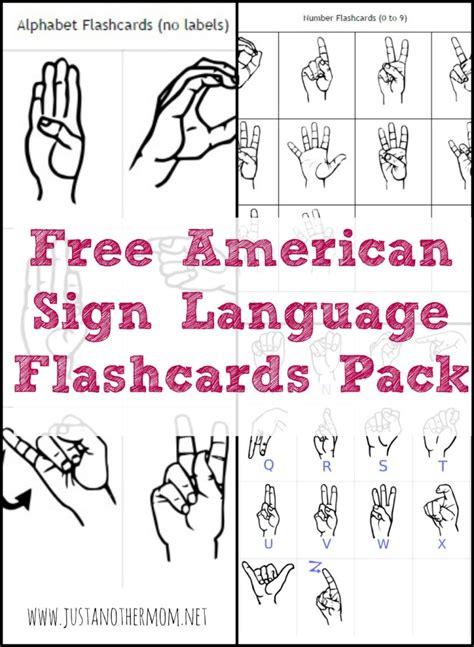 Sign Words freebie friday asl flashcards pack