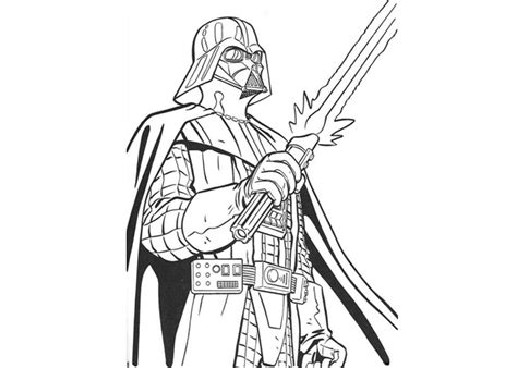 darth vader go coloring pages
