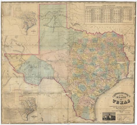 vintage texas map texas map home sweet home