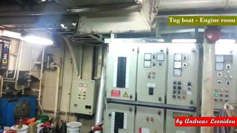 tugboat engine room tour in tug boat engine room with voith youtube