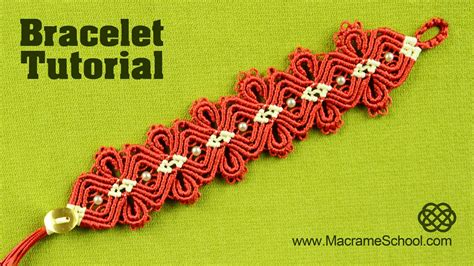Makrame Tutorial - macram 233 jewelry tutorial amazing flower bracelet