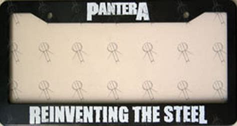 Pantera Reinventing The Steel Japan Pressing pantera reinventing the steel number plate frame miscellaneous other records