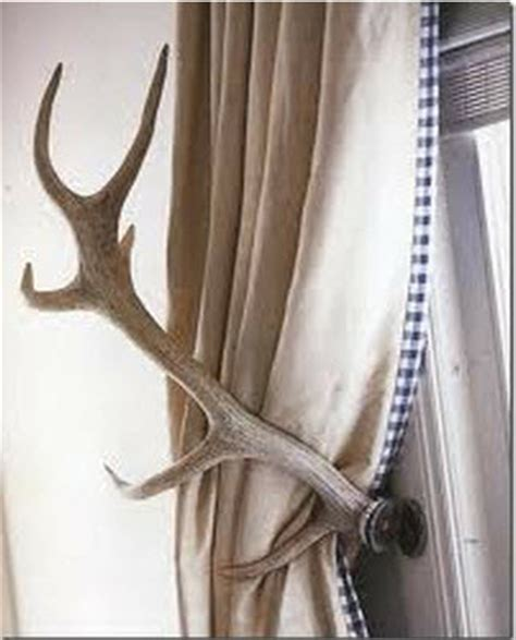 antler curtain tie backs unique drapery tiebacks driven by decor